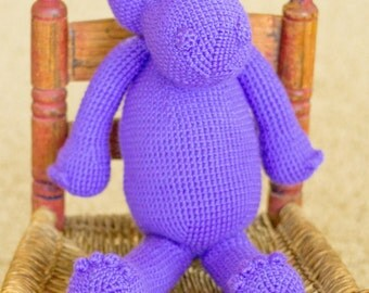 Crochet Animal | Harry the Hippo in Grape | Amigurumi | Crochet Hippo
