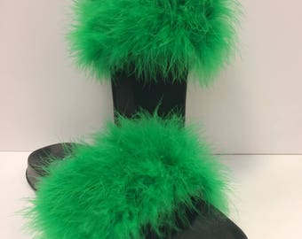 Green Fur Slides