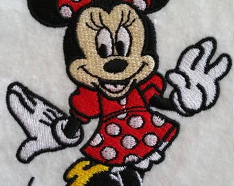 Large Minnie Mouse iron on or sew on patch Large Disney patch Minnie Mouse iron on patchMinnie sew on patchDisney iron on patchCartoon patch