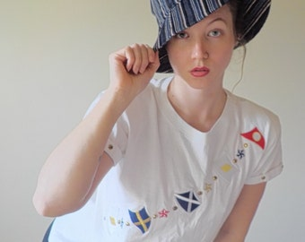 Striped CORDUROY BUCKET HAT With Snaps in Back/ 90s Vintage/ Band New/ One Size Fits All/ 90s Fashion/ Cotton Fashion Hat