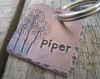 PIPER - Hand Stamped Pet ID Tag - Personalized Pet/Dog Tag - Dog Collar Tag - Engraved Dog Tag - Handsatmped Pet Tag -  Dog Tag