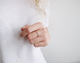 Eternity ring | Cross ring | Unusual ring | Simple Silver Ring | Infinity Ring | Ecofriendly sterling silver ring | Ecofriendly Jewellery