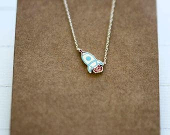 Teeny Tiny Rocket // Silver Rocket Necklace // Gift For Her // Zilveren Raket Ketting