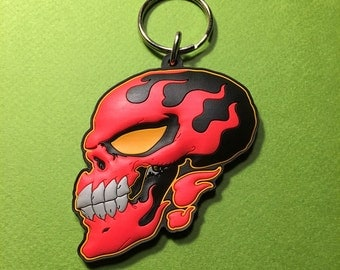 Flame Face • PVC Keychain