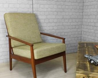 Retro Vintage Danish Teak Modernist Lounge Chair Scandinavian Mid Centry Hairpin Legs Mid Century Storage Eames