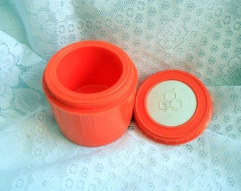 Bee Plastics Small Thermos, Bee It's A Honey Soup Thermos, Bee Plastics Thermos, BEE Thermos, Orange Thermos