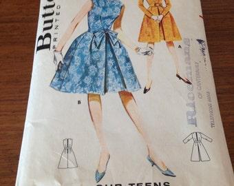 "Butterick 2502 1960s Sewing Pattern / Dress / Size 12 Bust 31"""