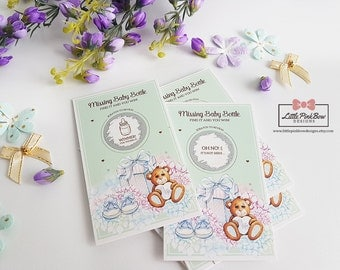20 Scratch Off Baby Shower Game Cards, Baby Shower Games, Baby Shower Scratch Off Cards, Scratch-Off Sticker Card Game for Baby Showers