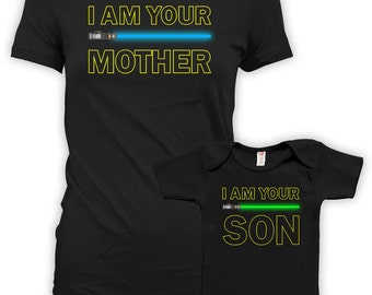 Mommy And Me Clothing Mom And Son Matching Outfits Mommy And Me Shirts I Am Your Mother I Am Your Son Baby Bodysuit Infant DN-669-585