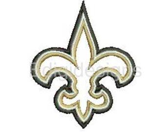 Fleur De Lis Saints Applique Embroidery Design