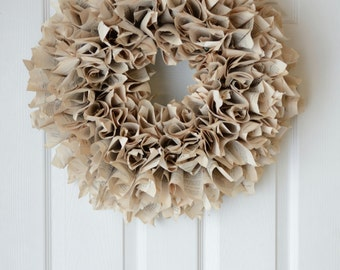 Book Wreath | page wreath | recycled | rustic| vintage | farmhouse decor | gift |farmhouse | farmstyle | rustic decor | fixer upper