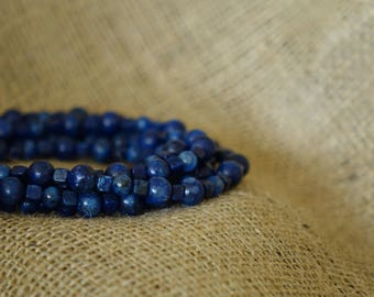 navy necklace, ocean jewelry, multi strand necklace, summer gift, long necklace, something blue beach wedding jewelry, wrap necklace, boho