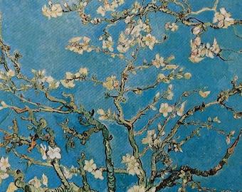 Van Gogh-Vincent Van Gogh-Art-Blossoming Almond Tree-Vintage-Postcard-Flowers-Post Impressonist-Home decor