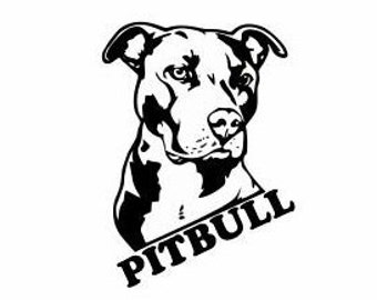 Pitbull Decals for Cars and Walls:  Dog Lover Decls, Dog Lover gifts, Pitbulls are good dogs, Pitbull owners, Dog Gifts, Pitbull Decor