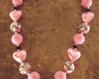 Princess Shoe chunky bead necklace