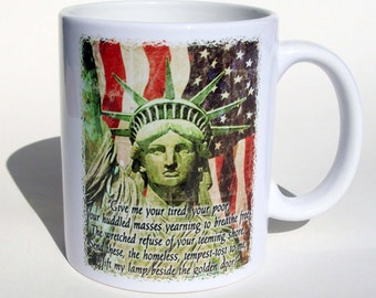 America Statue of Liberty Mug, Patriotic Coffee Mug