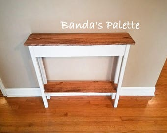Hallway Table, Sofa Table, Living Room Table, Entry Way Table, Skinny Side Part 89