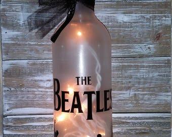 Beatles Lighted Wine Bottle Decoration/Lamp/Bar/Gift/Glass