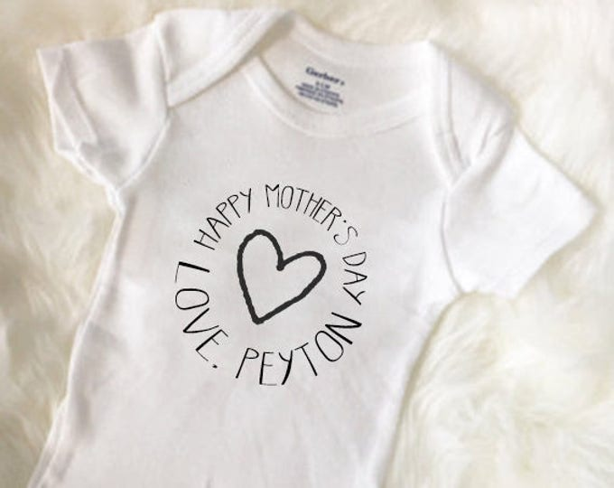 Happy Mother's Day Baby Outfit, From Baby, Baby Girl Onesies®, Baby Bodysuit, Custom Baby Onesies®, Personalized Mother's Day Gift