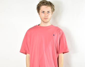 Vintage Salmon Colored Polo Ralph Lauren Oversized T-Shirt