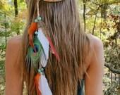 peacock feather headband, boho feather headband, feather headband, festival headband, tribal headband, bohemian