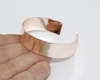 15x150mm Rose Gold Cuff Bangle, Cuff Bracelet Bangle, Open Cuff, Wide Open Cuff , CHK3-1
