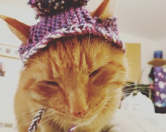 Pompom Hat for Cats - Different colours available