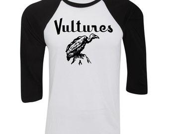 Vultures 3/4 Sleeve Baseball Tee Mens T-Shirt Retro Debbie Harry Blondie Punk NEW