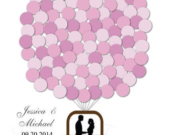 Hot Air Balloon Guest book Wedding Signature Poster Guest book Guest Sign in Guest Book Alternative Personalized Wedding Custom Wedding