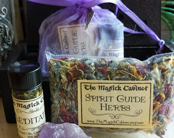 Meditation Sachet Kit, Sachet Herbs, Sachet Gift Set, Herbal Sachet, Witchcraft, Wicca, Pagan, Handcrafted Herbal Mix, Hand Blended Oils