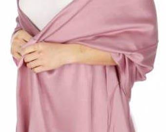 Dark blush Pashmina Scarf - dark blush Bridesmaid's gifts - blush Bridesmaid scarf - blush bridal - light pink party favors - pink wedding
