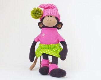 Stuffed monkey toy 15 inch, monkey plush doll, stuffed toys, Stuffed animals toy, made to order