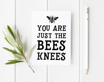 You Are The Bees Knees, Funny Anniversary Card, Cute Anniversary Card, Card For Anniversary, Funny Anniversary Card, Card For Her, Bee Mine