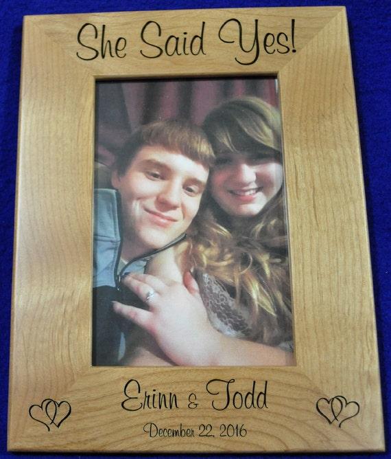 Engagement Frame Wedding Proposal Frame Gift For Engaged