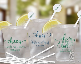 Wedding Cheers Plastic Disposable Cups