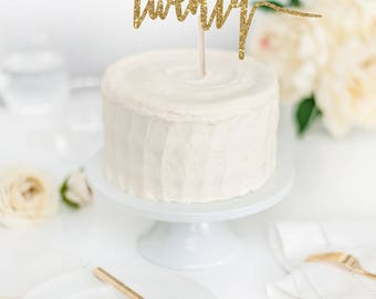 Twenty Cake Topper - Birthday Cake Topper - Glitter Cake Topper - 20th Birthday Cake Topper - Party Supplies - Party Decor
