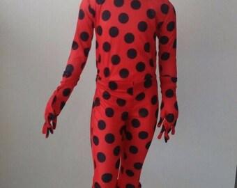 Miraculous Ladybug Costume inspired - Child Size - Inspired Miraculous Ladybug Cosplay Kid Size Costume Handmade Halloween