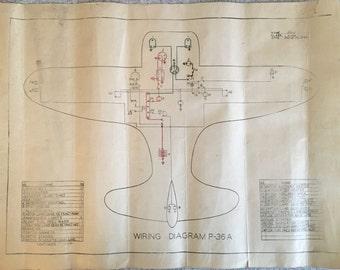 airplane blueprint etsy. Black Bedroom Furniture Sets. Home Design Ideas