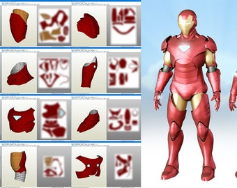 Mark 46 pepakura pattern diy iron man extremis suit pepakura diy cosplay pronofoot35fo Image collections