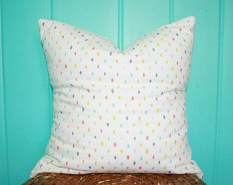 "Colorful Dot Print Pillow, 16x16"", Decorative Pillow, Throw Pillow Cover, Home Decor, Nursery Decor."