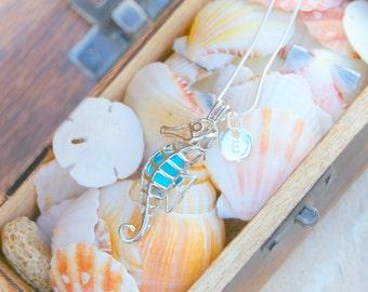 Seahorse jewelry, seahorse necklace, seahorse pendant, seahorse locket, animal necklace, ocean animal, animal jewelry, ocean life.