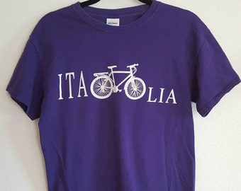 Vintage Purple Italia Bicycle Tshirt