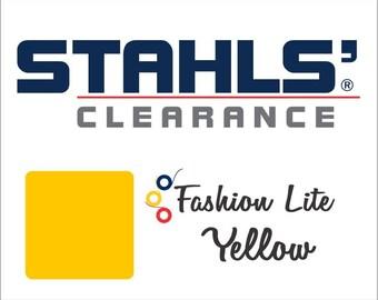 "9"" x 10 Yards - Stahls' Fashion Lite - Smooth - Craft Roll - Iron-on - Heat Transfer Vinyl - HTV - Yellow"