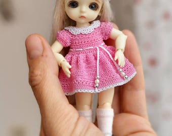 Hand knitting: Dress for Lati White SP (12 cm)