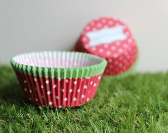 Strawberry Inspired High Tea Cupcake Paper Patty Pans 12pcs