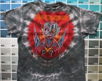 Vintage Iron Maiden shirt | vintage concert t-shirts men M | heavy metal clothing women L | heavy metal bands 80s | Somewhere in Time Eddie