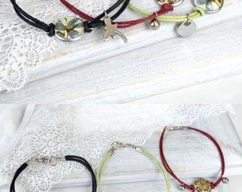 Charm jewelry for girl Charm bracelet for girl gift Flower jewelry for kids gift Floral jewelry teens Flowers bracelet gift for little girl