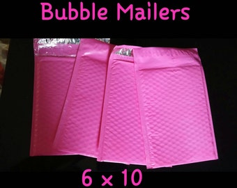 30 Pink 6X10 Bubble Mailers Self Sealing for  items, crafts or anything fragile that fits! Any item that needs extra protection,  roomy