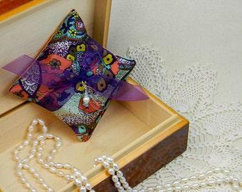 "Lavender ""Julia"" Sachet with charm"