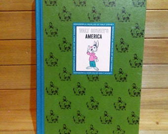 Vintage 1965 The Wonderful World of Walt Disney's AMERICA, Children's Book, DISNEY ILLUSTRATIONS, Lady and the Tramp, Johnny Appleseed
